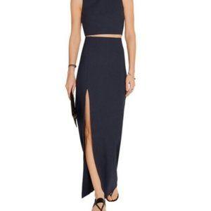 Elizabeth & James Avita Slit Maxi Skirt - Navy, 4
